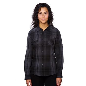 Ladies' Western Plaid Long-Sleeve Shirt