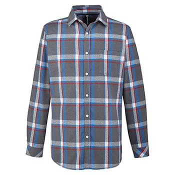 Woven Plaid Flannel With Biased Pocket