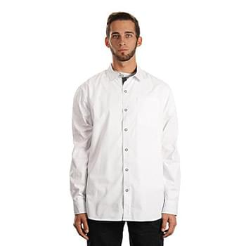 Men's Peached Poplin Woven Shirt