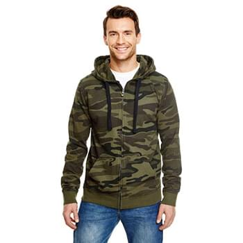 Men's  French Terry Full-Zip Hooded Sweatshirt