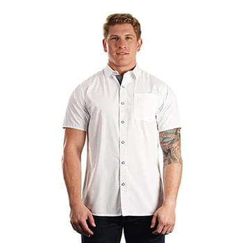 Men's Peached Poplin Short Sleeve Woven Shirt