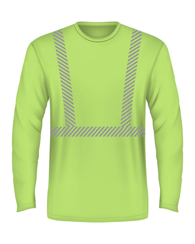 5.4 oz., 50/50 Hi-Visibility Segmanted Striping Long-Sleeve T-Shirt