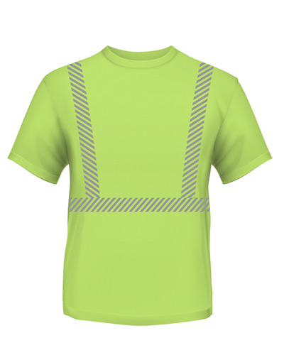 4.5 oz., Polyester Performance Hi-Visibility Segmented Striping T-Shirt