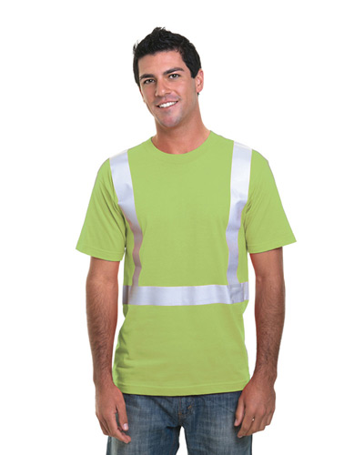 4.5 oz., Polyester Performance Hi-Visibility Solid Striping T-Shirt