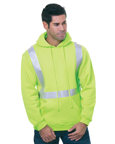 80/20 Heavywieght Hi-Visibility Solid Striping Pullover Hooded Sweatshirt