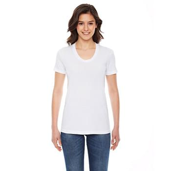 Ladies' Poly-Cotton Short-Sleeve Crewneck