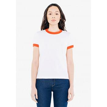 Ladies' Poly-Cotton Ringer T-Shirt