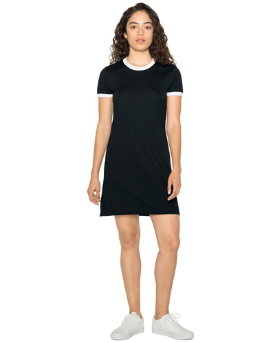 Ladies' Poly-Cotton Ringer T-Shirt Dress