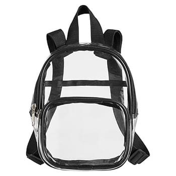 Unisex Clear PVC Mini Backpack