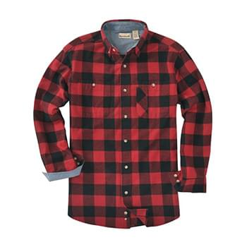 Men's Yarn-Dyed Long-Sleeve Brushed Flannel