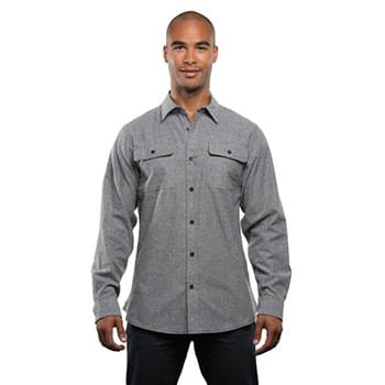 Men's Solid Flannel Shirt