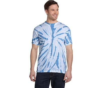 Adult 100% Cotton Twist Tie-Dyed T-Shirt