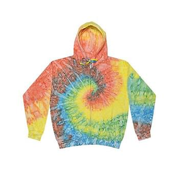 Adult Tie-Dyed Full-Zip Hooded Sweatshirt
