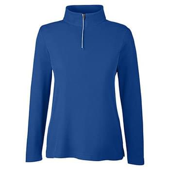 Ladies' Fusion ChromaSoft Pique Quarter-Zip