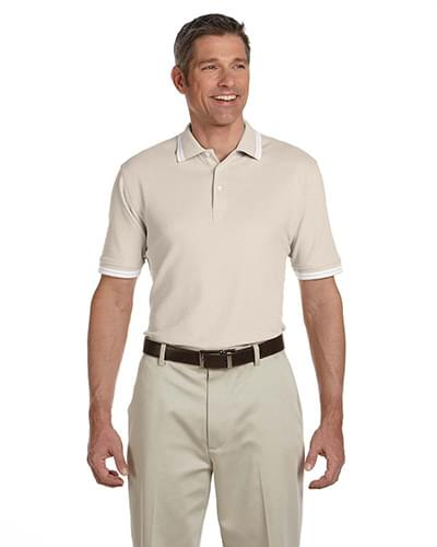 Men's Tipped Performance Plus Piqu Polo
