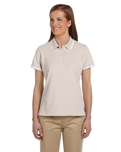 Ladies' Tipped Performance Plus Piqu Polo