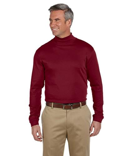 Pima Cotton Long-Sleeve Mock Neck