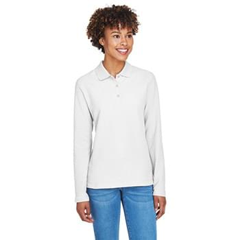 Ladies' Pima Piqu? Long-Sleeve Polo