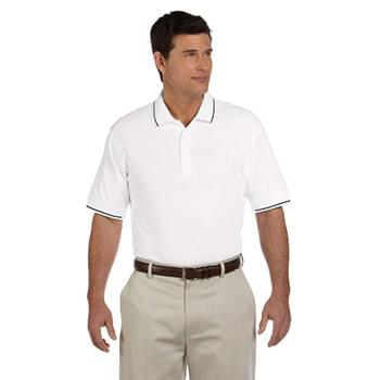 Men's Pima Piqu? Short-Sleeve Tipped Polo