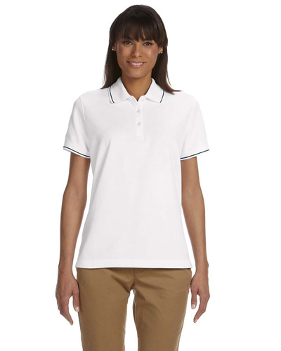 Ladies' Pima Piqu? Short-Sleeve Tipped Polo