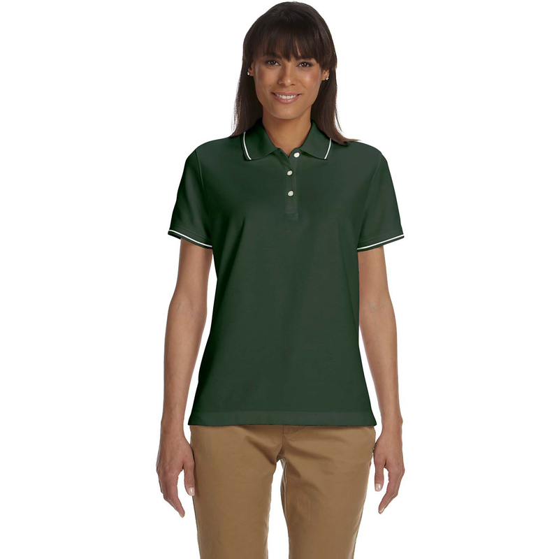 Ladies' Pima Piqu Short-Sleeve Tipped Polo