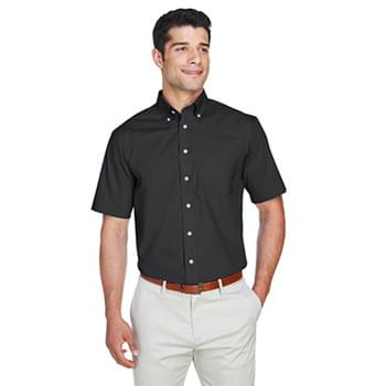 Men's Crown Woven Collection SolidBroadcloth Short-Sleeve Shirt