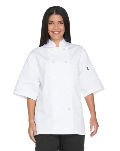 Unisex Classic 10 Button Short Sleeve Chef Coat