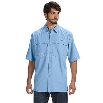 Men's 100% Polyester Short-Sleeve Fishing Shirt
