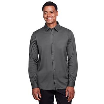 Men's CrownLux Performance? Plaited Button-Down Shirt