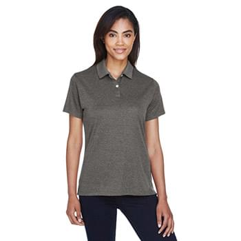 Ladies' Pima-Tech Jet Piqu Heather Polo