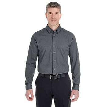 Men's Central Cotton Blend Mlange Button-Down