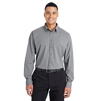 CrownLux Performance? Men's Tonal Mini Check Shirt