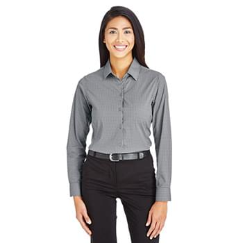 CrownLux Performance? Ladies' Tonal Mini Check Shirt