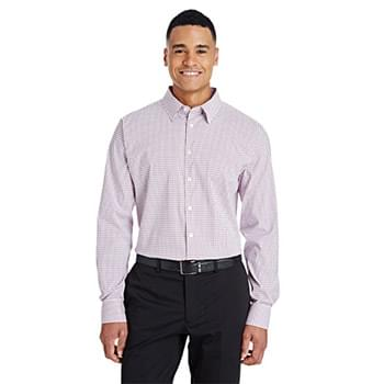 CrownLux Performance? Men's Micro Windowpane Shirt