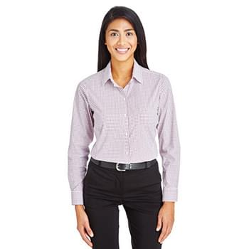 CrownLux Performance Ladies' Micro Windowpane Shirt