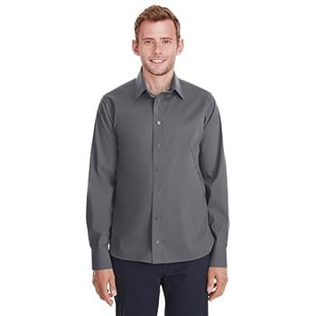 Men's Crown  Collection Stretch Broadcloth Untucked Shirt