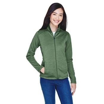 Ladies' Newbury Colorblock Mlange Fleece Full-Zip