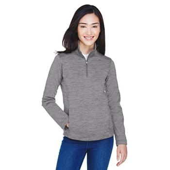 Ladies' Newbury Mlange Fleece Quarter-Zip