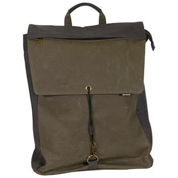 Waxed Cotton Commuter Canvas Backpack
