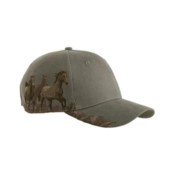 Brushed Cotton Twill Mustang Cap