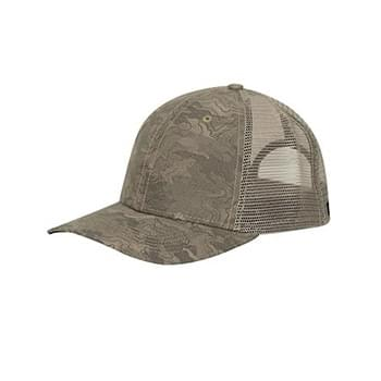 Structured Mid Profile Camo Print Trucker Hat
