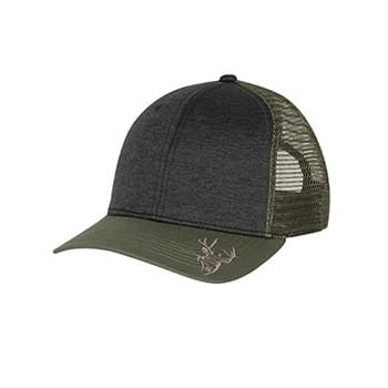Structured Mid Profile Heather Trucker Hat