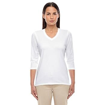 Ladies' Perfect Fit Bracelet-Length V-Neck Top