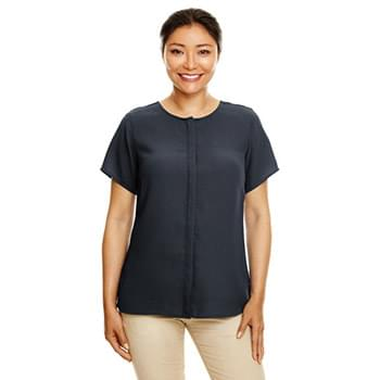 Ladies' Perfect Fit?  Short-Sleeve Crepe Blouse