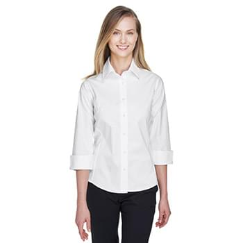 Ladies' Perfect Fit 3/4-Sleeve Stretch Poplin Blouse