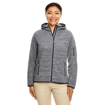 Ladies' Perfect Fit  Mlange Velvet Fleece Hooded Full-Zip