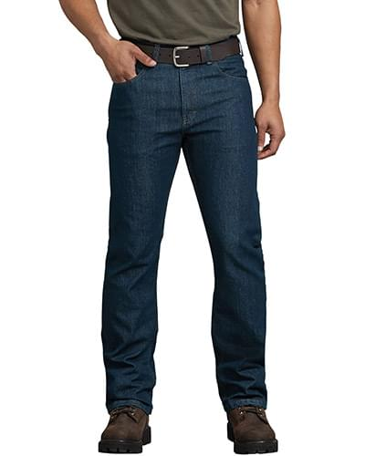 Men's FLEX Regular Fit Straight Leg 5-Pocket Tough Max Denim Jean