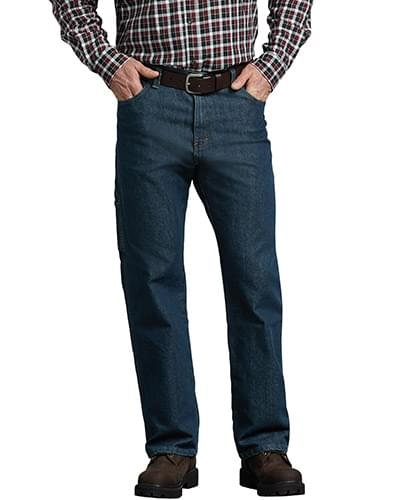 Men's FLEX Relaxed Fit Straight Leg 5-Pocket Carpenter Tough Max Denim Jean Pant