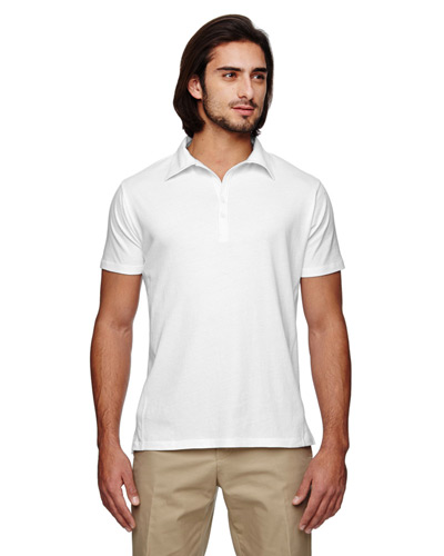 Men's 4.4 oz., 100% Organic Cotton Jersey Short-Sleeve Polo