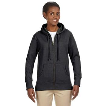 Ladies' Organic/Recycled Heathered Fleece Full-Zip Hooded Sweatshirt
